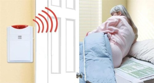 Smart Caregiver Wireless Bed Alarm Alert - 20 by 30 Inch Pad (Best Rated Wireless Alarm System)