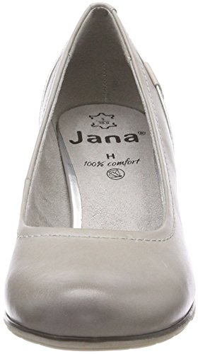 Jana 22404 lt Con Donna Grigio Grey Tacco Scarpe H6SRaq1