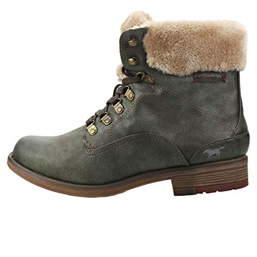 77 1295 77 Botines Mujer Mustang olive Verde Para 601 z8dw66Eq