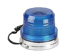 Wolo (3005-B) Hawkeye LED Rotating And Flashing Emergency Warning Light - Blue Lens - Blue LED\'s, Magnet Mount