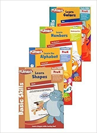 Pre K Workbooks Set Of 4 Activity Books Learn Letters Colors Shapes Numbers Counting Reading And The Alphabet Playskool Kindergarten