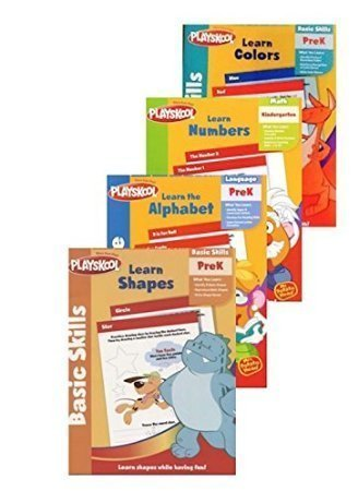 Pre K Workbooks Set of 4 Activity Books, Learn; Letters, Col