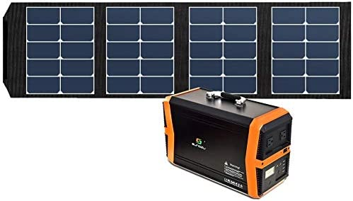 Sungzu 65W Solar Panel Charger Foldable with 4 Output Port Waterproof Solar Portable Panel Suaoki Jackery Webetop Paxcess Portable Power Station Generator