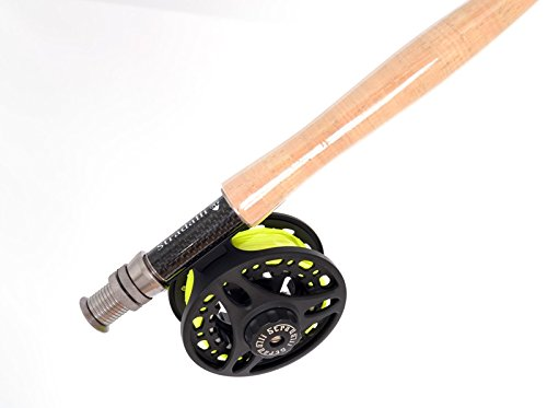 Stradalli Silver Lining 4 Wt, 9' Long, 4 Piece Fast Action Fly Fishing Rod 100% Carbon Fiber Billet Reel Combo by Stradalli (Image #2)