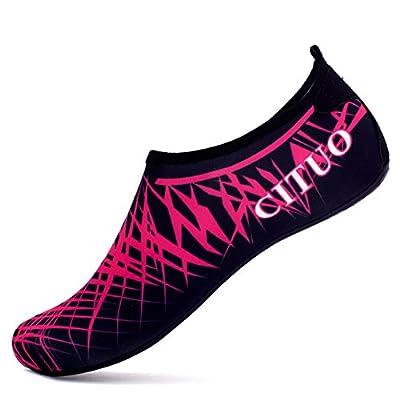 Giotto Barefoot Water Shoes Yoga Beach Swim Aqua Shoes for Women Men-Pink-36-37