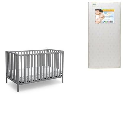 Delta Children Heartland 4-in-1 Convertible Baby Crib, Bianca White Delta Baby Dropship 555140-130
