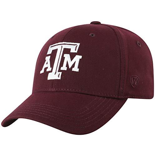 Aggies State Top - Top of the World NCAA Texas A&M Aggies Men's Premium Memory Foam Logo Hat, Maroon