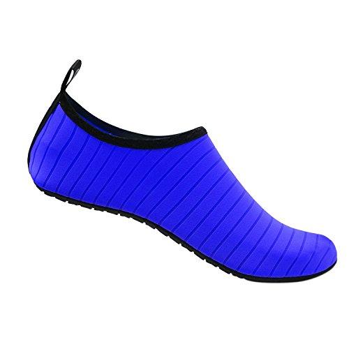 da Scarpe Elastico Scarpette Scarpe Uomini Bagno Traspirante Scoglio Unisex Materiale Leggere da Mare Yidarton per Yoga Immersione Donna da Antiscivolo Sport Surf Blu Spiaggia d5xqcZw