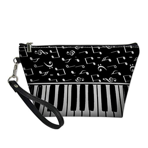 Mumeson Pu Leather Make-Up Cosmetic Bag Carry Case Music Piano Keyboard Patter Girls Travel Beauty Bags ()
