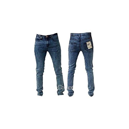 Zico Men's Jeans Super Skinny Stretch léger lavage acide neige