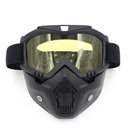 el la Casco al máscara Easy máscara Campo máscara Monta de través la Aire Libre Gafas la Harley Go a la Que Motocicleta de Yellow la Black Shopping Lente Equipo de de de máscara de Color OwOIE8
