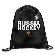 Russia World Cup Of Hockey 2016 Locker Room Drawstring Backpack Sport Bag