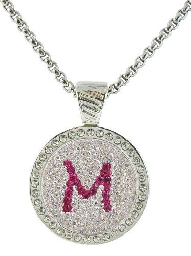 Navika USA M in Pink Initial Crystal Ball Marker w/ Swaro...
