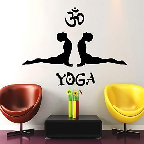 Baobaoshop Tatuajes de Pared Postura de Yoga Símbolo Om Ganesh ...