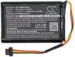 Batería GPS para Tomtom Go 510, 4FA50, Go 520, Go 520, WiFi Compatible con Tomtom AHA11110004, P5, P6 (Li-Ion, 3.70 V, 1100 mAh, 4,07 WH)