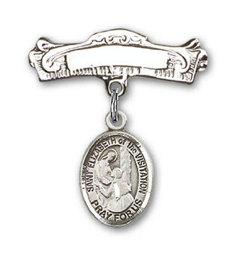 Icecarats Créatrice De Bijoux En Argent Sterling St. Elizabeth De La Broche Badge Voûtée De Charme De Visite