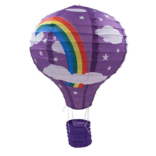 Lanterns - 12 Inch 30cm Air Balloon Rainbow Lanterns Wedding Decorations Birthday Party Layout Folding Paper - Cake Lantern Wedding White Small Decoration Topper Card Centerpiece Holder Invita]()