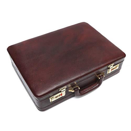 Hammonds Flycatcher Genuine Leather Brown Briefcase with 360 Days Warranty