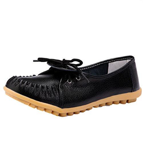 Women's Casual Ballet Slip On Flats Loafers Single Shoes Black - 4