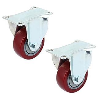 eDealMax 3 pulgadas Dia individuales de PVC de rueda No giratoria ...