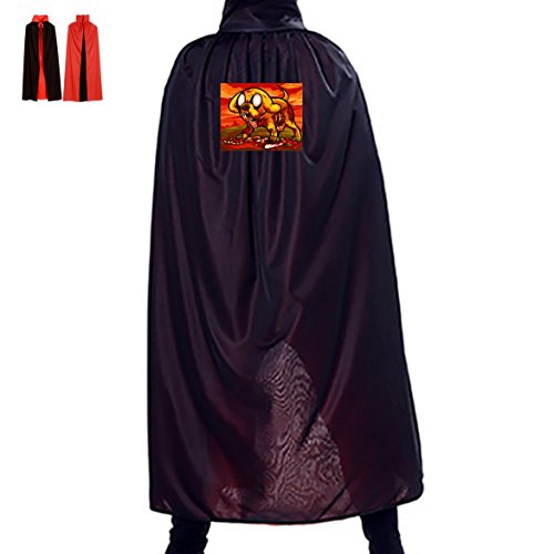Jake Dog Costume The (Adventure Time Jake Dog Unisex Hooded Halloween Cape Costume Wizard)