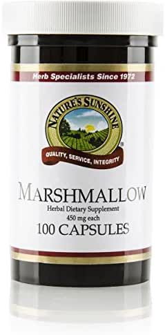 Nature's Sunshine Marshmallow, 100 Capsules, Kosher, Marshmallow Root Naturally Provides Demulcent Effects on The Digestive and Respiratory Systems