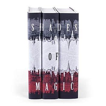 Image of Bookshelf Albums Juniper Books Shades of Magic | Three-Volume Hardcover Book Set with Custom Designed Dust Jackets | Author V.E. Schwab