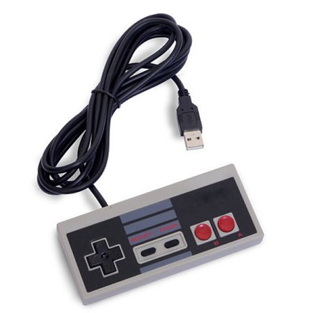(USB Controller for PC and Laptop, approx 4.6 Feet Long Cord, Plug and Play on Windows, Mac, Linux Series Kernel System, Retro Classic Style USB Controller, Cacly)