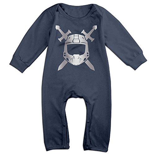 [Baby Boys' Halo Spartan Platinum Style Romper Jumpsuit Outfits] (Halo Spartan Suit For Sale)