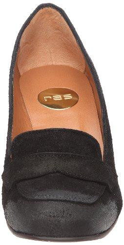 RAS 925AU3G Damen Pumps Schwarz (Wax Suede Black)