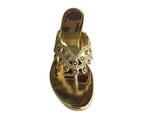 Step n Style Rhinestone Bridal Sandals Women Shoes ETHNIC KOLHAURI KHUSSA SHOE JUTTI f6mjkQHdb3