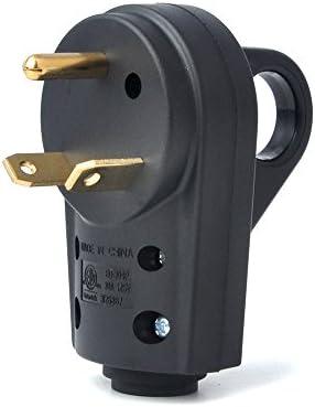 30 Amp Rv Plug >> Bougerv 30 Amp Rv Receptacle Plug Electrical Plug Adapter With Handle Male Plug
