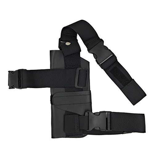 AOVEI Right Leg Thigh Adjustable Tactical Cosplay Gun Pistol Holster for (Thigh Gun Holster Costumes)