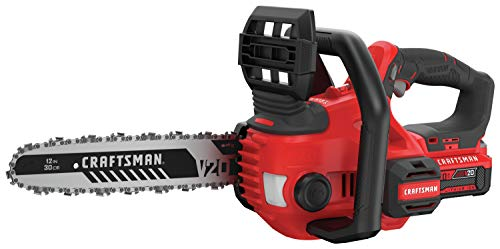 "CRAFTSMAN CMCCS620M1 V20 12"" Cordless Compact Chainsaw"