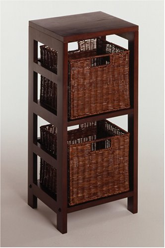 Storage Shelf / Decorative Baskets Espresso