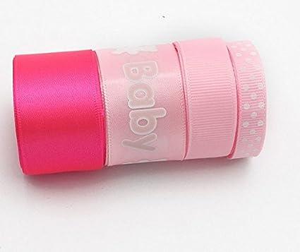 4 unds cintas rosa bebe algodon saten mil ideas lazos pelo, canastillas, vestiditos,