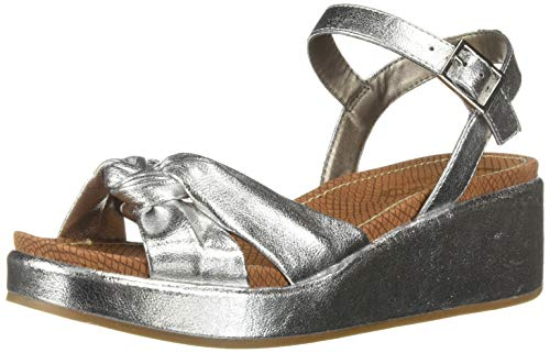 (Circus by Sam Edelman Women's Stephanie Heeled Sandal Soft Silver Metallic Crackle 9 M US)