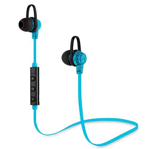 Creazy Wireless Bluetooth Headset Stereo Headphone Earphone for iPhone Samsung (Blue) (Wireless Headphones Igo)