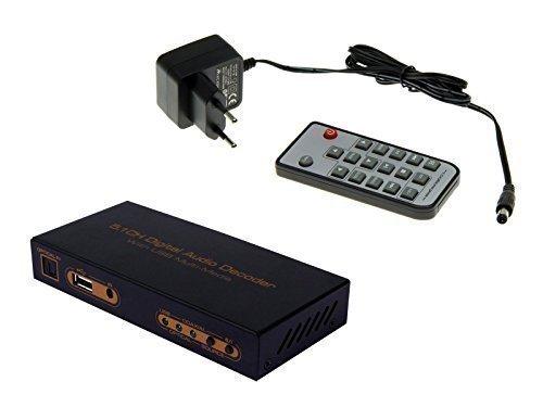 Digital Audio Konverter Toslink Koaxial auf 5.1CH AV Decoder Umwandler USB Port