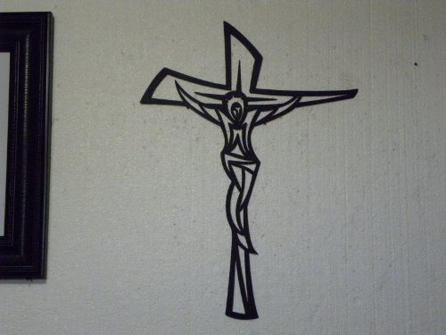 Wall Cross Modern Metal Wall Sign Religious Home Decor
