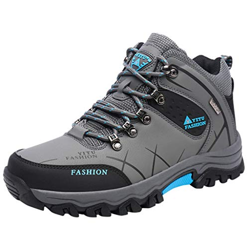Haforever Men's Mid Waterproof Hiking Boot Camping Backpacking Shoes Lightweight Sneaker