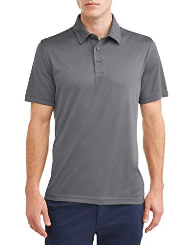 George Men's Active Performance Polo Shirt (Small 34/36, Charcoal Grey Heather)