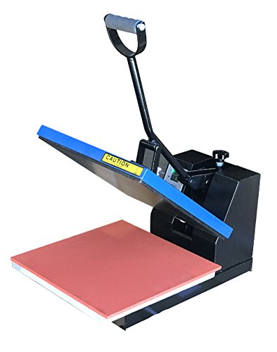 Fancierstudio DG Digital Heat Press Industrial-Quality Digital 15-by-15-Inch Sublimation T-Shirt Heat Press, Black DG Heat Press Black Blue by fancierstudio