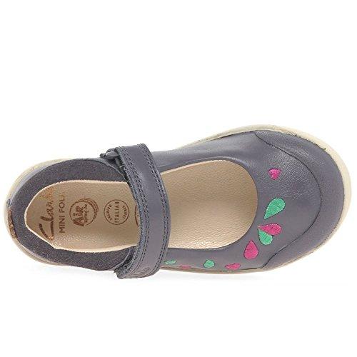 Clarks  Lilfolkpeg Pre, Chaussures de ville à lacets pour fille gris gris
