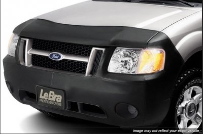 Lebra 2 piece Front End Cover Black - Car Mask Bra - Fits - TOYOTA,RAV4,,,2006 thru 2008