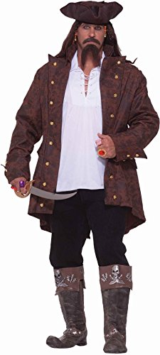 Xxx Large Costumes (Forum Big-Tall Big Fun Pirate Captain Costume, Multi, XXX-Large)