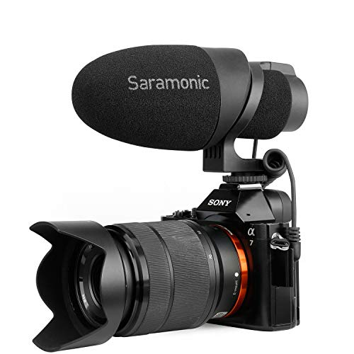 - Shotgun Mic, Saramonic CamMic Lightweight Video Microphone,Directional Microphone for Sony,Smartphones, Canon EOS,Nikon DSLR Cameras and Camcorders, Designed for Travel, Interview, YouTube