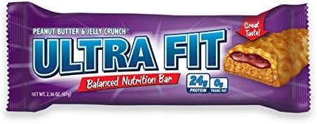 ULTRA FIT Peanut Butter Jelly Crunch 24g Protein Bar – 12 Count