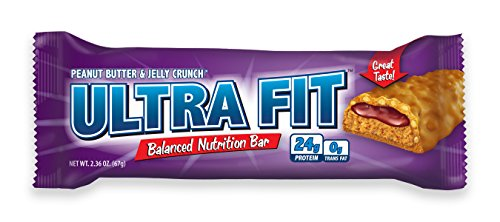 (ULTRA FIT Peanut Butter & Jelly Crunch 24g Protein Bar - 12 Count)