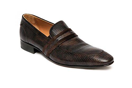 Giovanni Conti Conti 2533-01 Brown Leather Slip-On Shoe. HEq0K